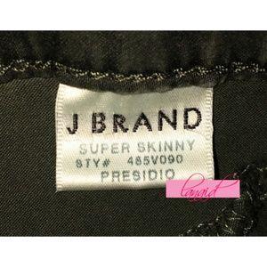 J Brand Pants - J Brand Sateen Mid-Rise Skinny Presidio Olive Army